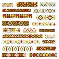 primitive geometrische Washi-Muster