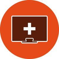 Vektor Online-Symbol für medizinische Hilfe