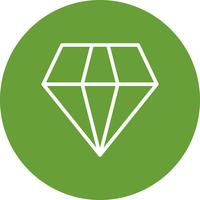 vektor diamant ikon