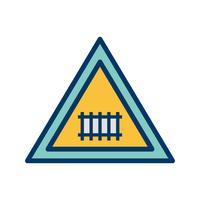 Vektor-Bahnübergang (mit Tor) Verkehrsschild-Symbol