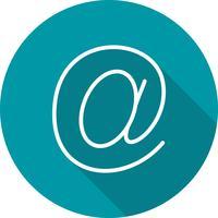Vektor-E-Mail-Adresse-Symbol vektor