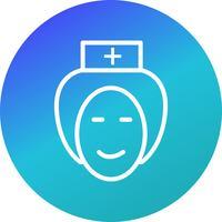 Vektor sjuksköterska ikon