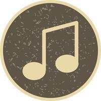 musik notering ikon vektor illustration