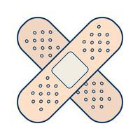 Vektor-Bandhilfe-Symbol vektor