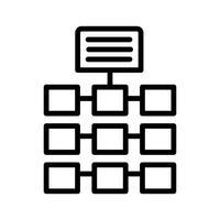 Vektor-Netzwerk-Symbol vektor
