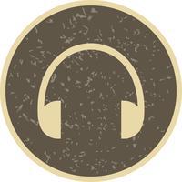 Hörlurar Ikon Vektor Illustration