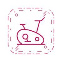 Übungsfahrrad-Ikonen-Vektor-Illustration