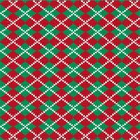 stickat argyle mönster vektor