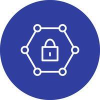 Vektor geschütztes Netzwerk-Symbol