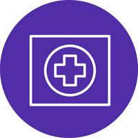 Vektor-Hospiatal-Verkehrsschild-Ikone vektor
