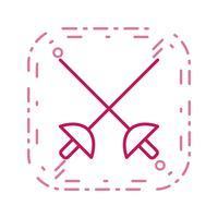 Fechten-Ikonen-Vektor-Illustration vektor