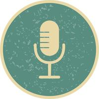 Mikrofon Ikon Vektor Illustration