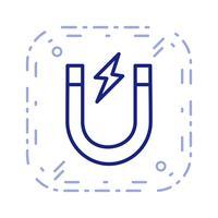 Vektor-Magnet-Symbol