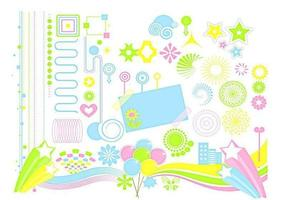Funky design elements vector pack