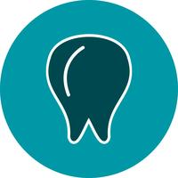 Vektor-Zahn-Symbol vektor