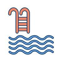 Schwimmbad-Ikonen-Vektor-Illustration vektor