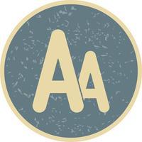 Vektorschriftart-Symbol vektor