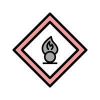 Vektor-Oxidationsmittel Verkehrsschild-Symbol vektor