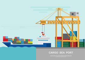 Lager och logistik logistik på en platt stil