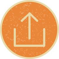 Icon-Vektor-Illustration hochladen vektor