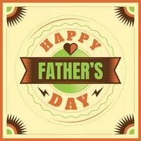 Glücklicher Vatertagskartendesign