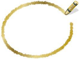 Goldellipsenzeichenstiftrahmen, Vektorillustration. vektor