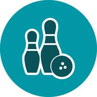 Bowling-Ikonen-Vektor-Illustration