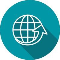 Vektor um die Welt-Ikone