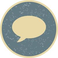 Chat-Symbol-Vektor-Illustration vektor