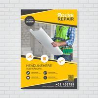 Byggverktyg täcker a4 mall för en rapport och broschyrdesign, flygblad, banner, broschyrer dekoration för tryck och presentation vektor illustration