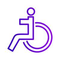 Vektor-Behinderten-Symbol