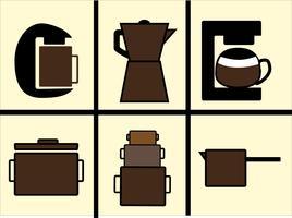 Kaffebryggare vektorer