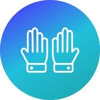 Handschuh-Ikonen-Vektor-Illustration vektor