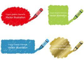 Satz Zeichenstiftfleckhintergrund in vier Farben. vektor
