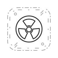 Vektor Radio Active Road Sign Symbol