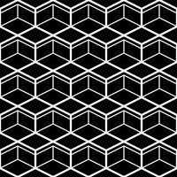 Nahtloses Muster mit weißer Linie Sechsecken