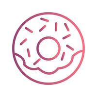 Vektor-Donut-Symbol