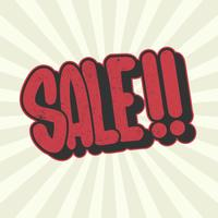 Verkauf Typografie