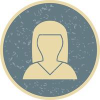 Weibliche Avatarikonen-Vektor-Illustration
