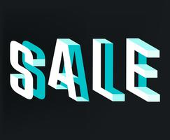 Verkauf Typografie vektor