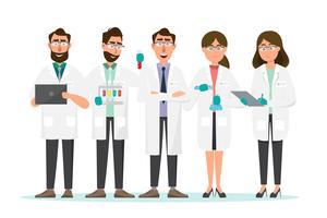medizinisches Konzept Wissenschaftler bemannen und Frauenforschung in einem Laborlabor vektor