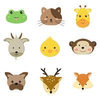 djur ansikten