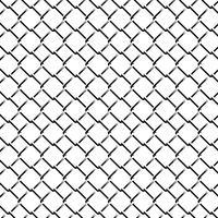 Zaun Grid Monochrome Seamless Pattern vektor