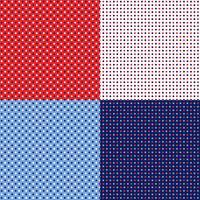 sömlösa röd vitblå polka dotmönster vektor