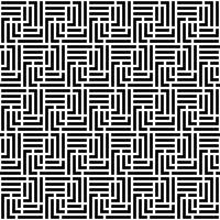 Monokrom Labyrint Seamless Pattern vektor