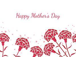 Seamless vektor bakgrunds illustration med textutrymme för mors dag.