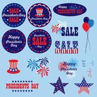 rote weiße blaue Präsidenten-Tag-Clipart-Grafiken