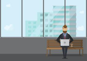 Geschäftsleute Teamwork, Vektorillustration in der flachen Art