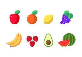 Früchte gesundes Essen vektor