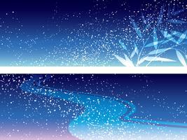 Set med två vektor Milky Way illustrations för den japanska Star Festival.